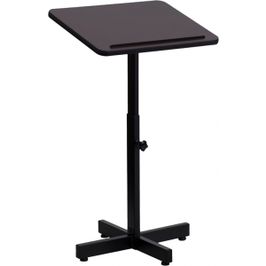 Wholesale Adjustable Height Metal Lectern in Mahogany