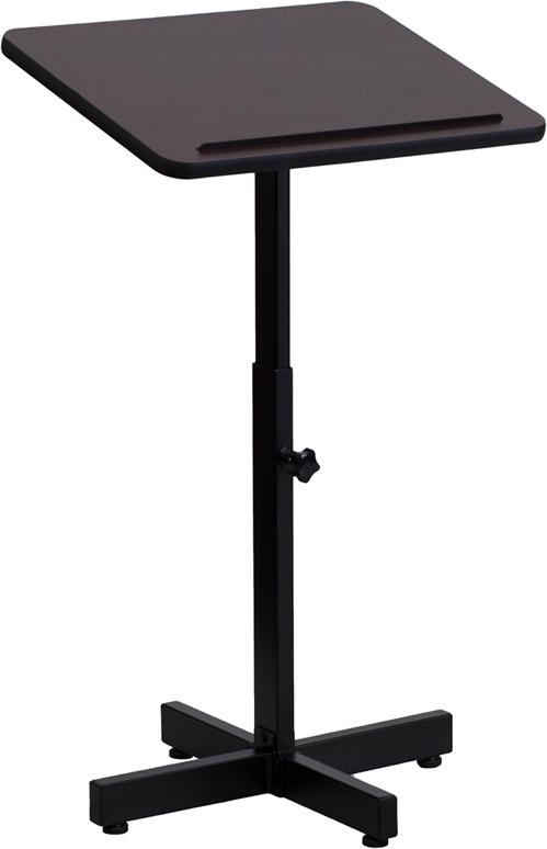 Wholesale Adjustable Height Metal Lectern in Mahogany