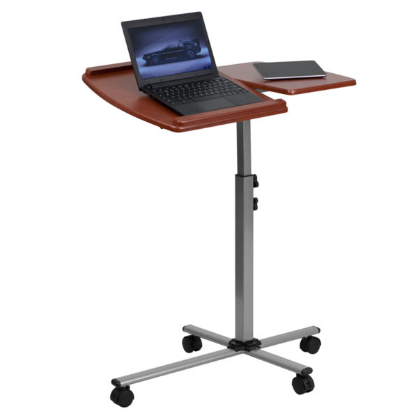 Wholesale Angle and Height Adjustable Mobile Laptop Computer Table with Cherry Top