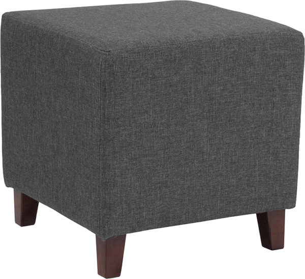 Wholesale Ascalon Upholstered Ottoman Pouf in Dark Gray Fabric