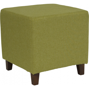 Wholesale Ascalon Upholstered Ottoman Pouf in Green Fabric