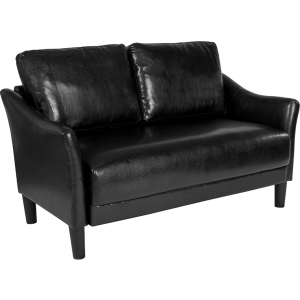 Wholesale Asti Upholstered Loveseat in Black Leather