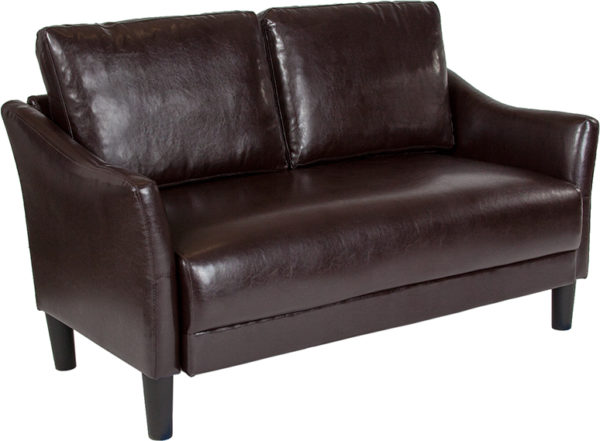 Wholesale Asti Upholstered Loveseat in Brown Leather