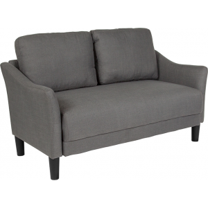 Wholesale Asti Upholstered Loveseat in Dark Gray Fabric