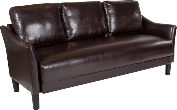 Wholesale Asti Upholstered Sofa in Brown Leather