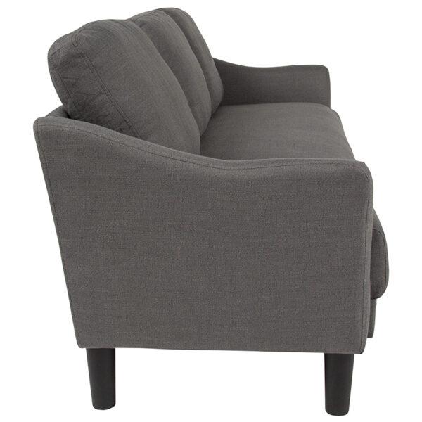 Contemporary Style Dark Gray Fabric Sofa