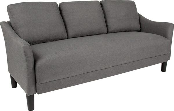 Wholesale Asti Upholstered Sofa in Dark Gray Fabric