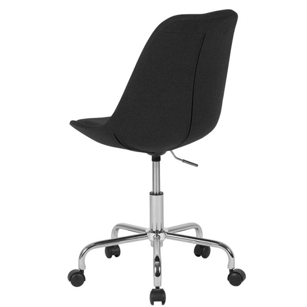 Contemporary Task Office Chair Black Fabric Task Chair
