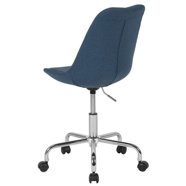 Contemporary Task Office Chair Blue Fabric Task Chair