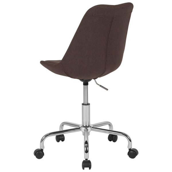 Contemporary Task Office Chair Brown Fabric Task Chair