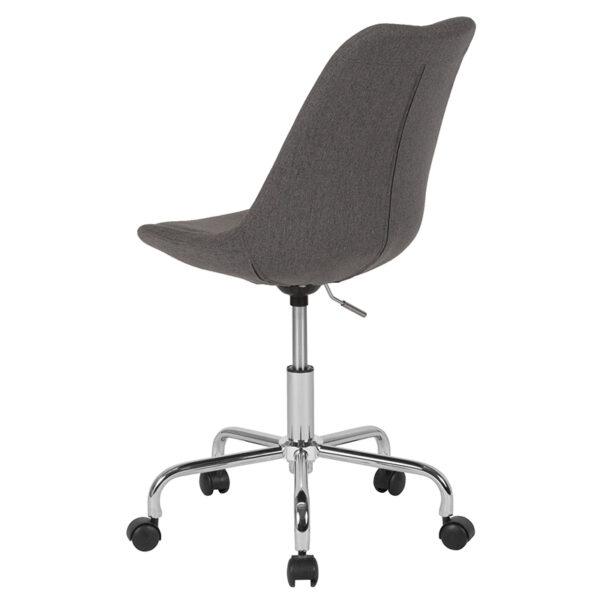 Contemporary Task Office Chair Dark Gray Fabric Task Chair