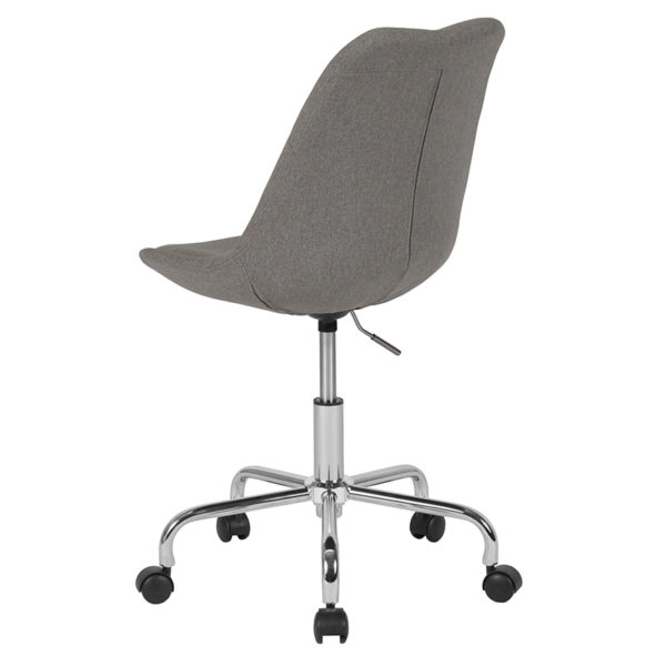 Contemporary Task Office Chair Light Gray Fabric Task Chair