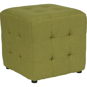 Wholesale Avendale Tufted Upholstered Ottoman Pouf in Green Fabric