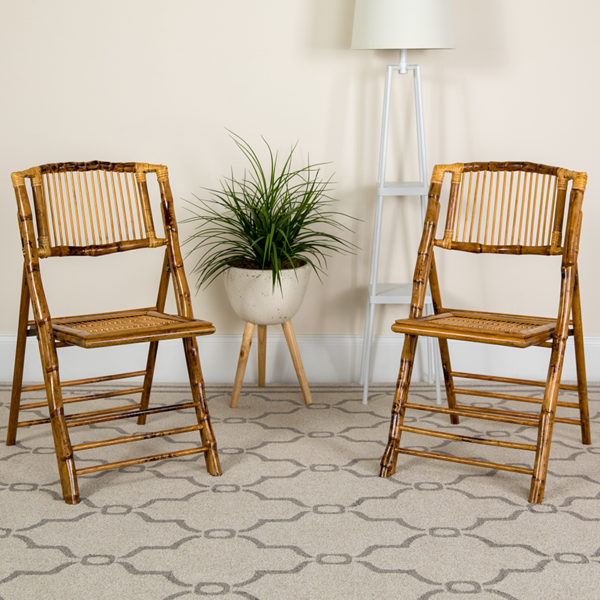 Lowest Price Bamboo Folding Chairs |Set of 2 Bamboo Wood Folding Chairs