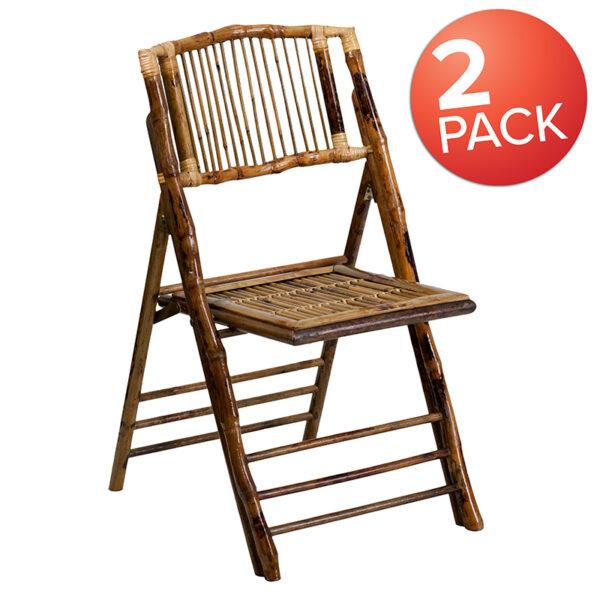 Wholesale Bamboo Folding Chairs |Set of 2 Bamboo Wood Folding Chairs