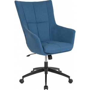 Wholesale Barcelona Home and Office Upholstered High Back Chair in Blue Fabric