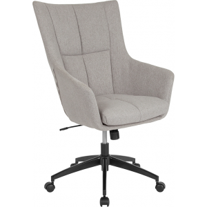 Wholesale Barcelona Home and Office Upholstered High Back Chair in Light Gray Fabric