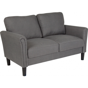 Wholesale Bari Upholstered Loveseat in Dark Gray Fabric