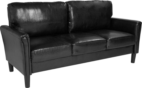 Wholesale Bari Upholstered Sofa in Black Leather