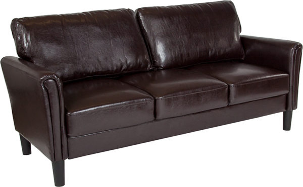 Wholesale Bari Upholstered Sofa in Brown Leather