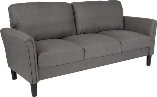 Wholesale Bari Upholstered Sofa in Dark Gray Fabric