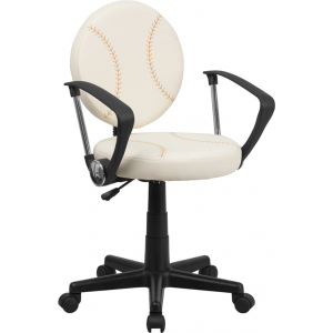 Wholesale Baseball Swivel Task Office Chair with Arms