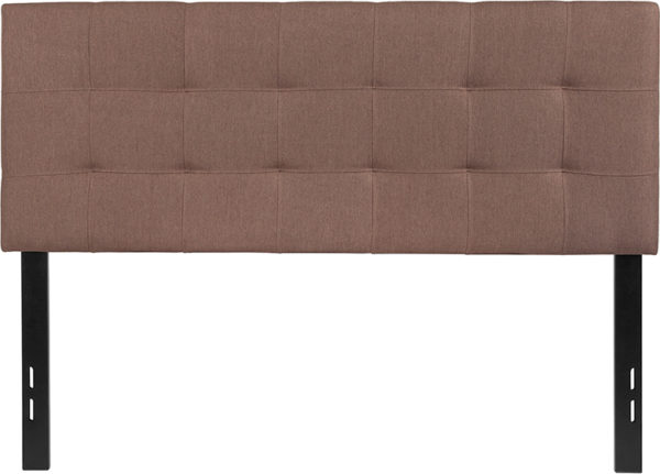 Lowest Price Bedford Tufted Upholstered Full Size Headboard in Camel Fabric