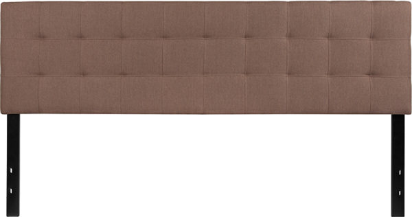 Lowest Price Bedford Tufted Upholstered King Size Headboard in Camel Fabric