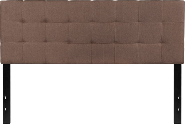 Lowest Price Bedford Tufted Upholstered Queen Size Headboard in Camel Fabric