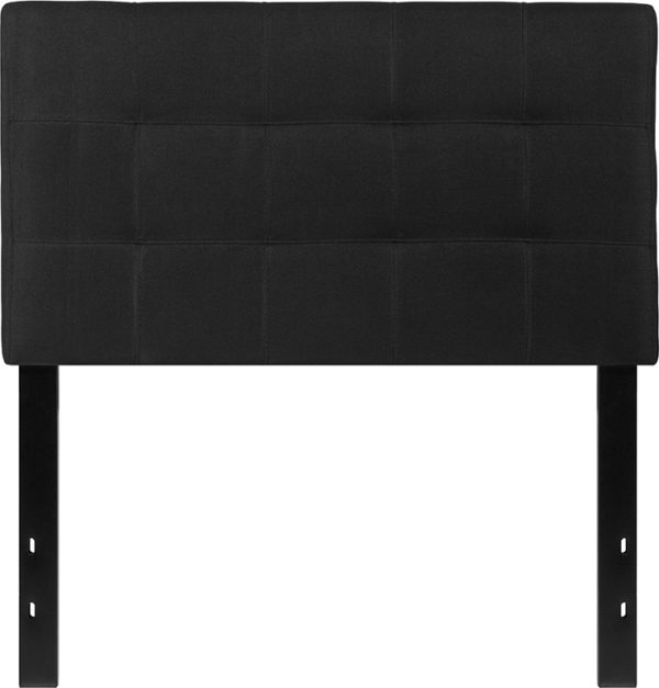 Lowest Price Bedford Tufted Upholstered Twin Size Headboard in Black Fabric