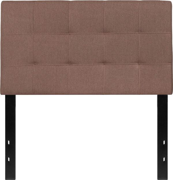 Lowest Price Bedford Tufted Upholstered Twin Size Headboard in Camel Fabric