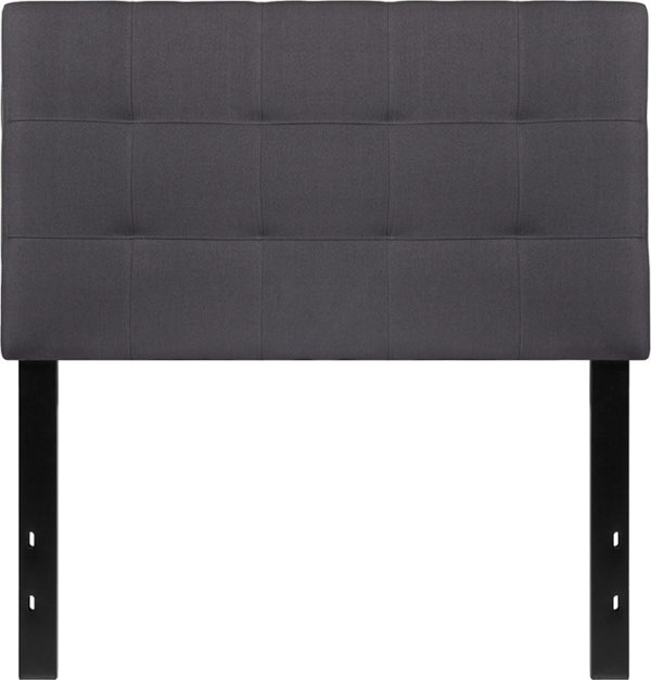Lowest Price Bedford Tufted Upholstered Twin Size Headboard in Dark Gray Fabric