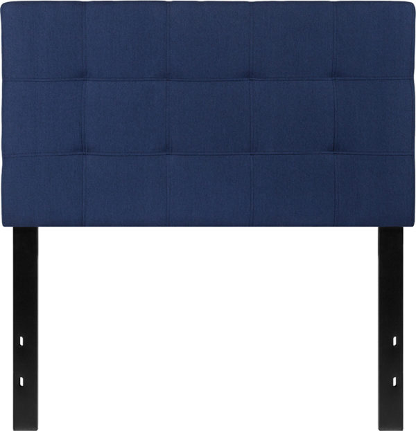 Lowest Price Bedford Tufted Upholstered Twin Size Headboard in Navy Fabric