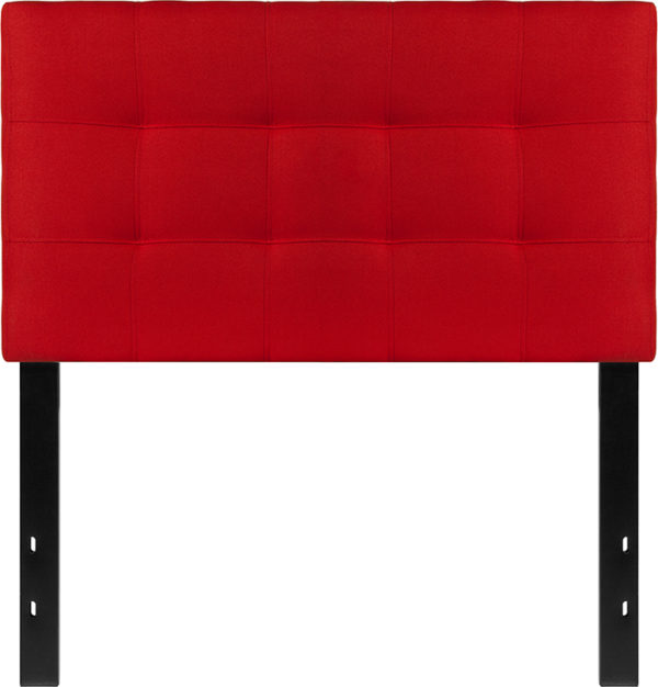 Lowest Price Bedford Tufted Upholstered Twin Size Headboard in Red Fabric