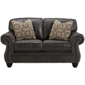 Wholesale Benchcraft Breville Loveseat in Charcoal Faux Leather