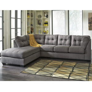 Wholesale Benchcraft Maier Sectional with Left Side Facing Chaise in Charcoal Microfiber