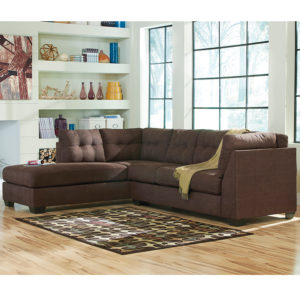 Wholesale Benchcraft Maier Sectional with Left Side Facing Chaise in Walnut Microfiber