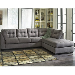 Wholesale Benchcraft Maier Sectional with Right Side Facing Chaise in Charcoal Microfiber