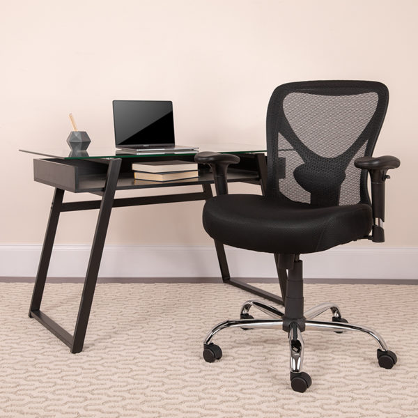 Lowest Price Big & Tall Office Chair | Adjustable Height Mesh Swivel Office Chair with Wheels