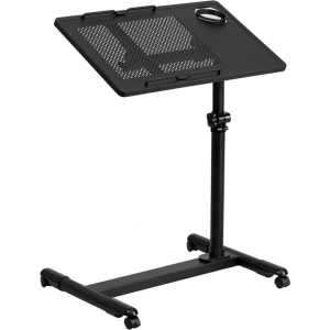 Wholesale Black Adjustable Height Steel Mobile Computer Desk