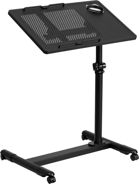 Wholesale Black Adjustable Height Steel Mobile Computer Desk