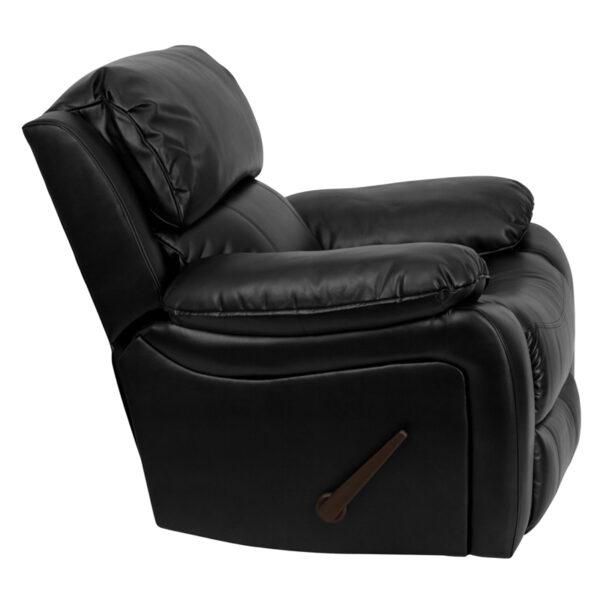 Lowest Price Black Leather Rocker Recliner