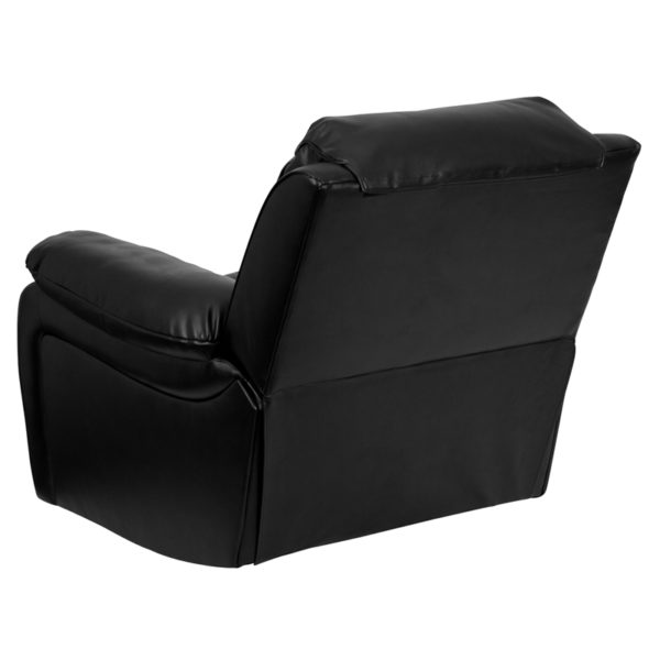 Contemporary Style Black Leather Rocker Recliner