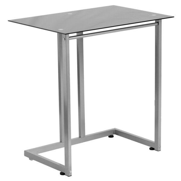 Lowest Price Black Tempered Glass Computer Desk