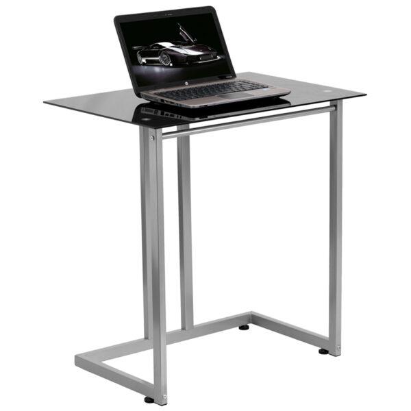 Wholesale Black Tempered Glass Computer Desk