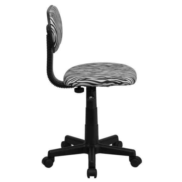 Lowest Price Black and White Zebra Print Swivel Task Office Chair