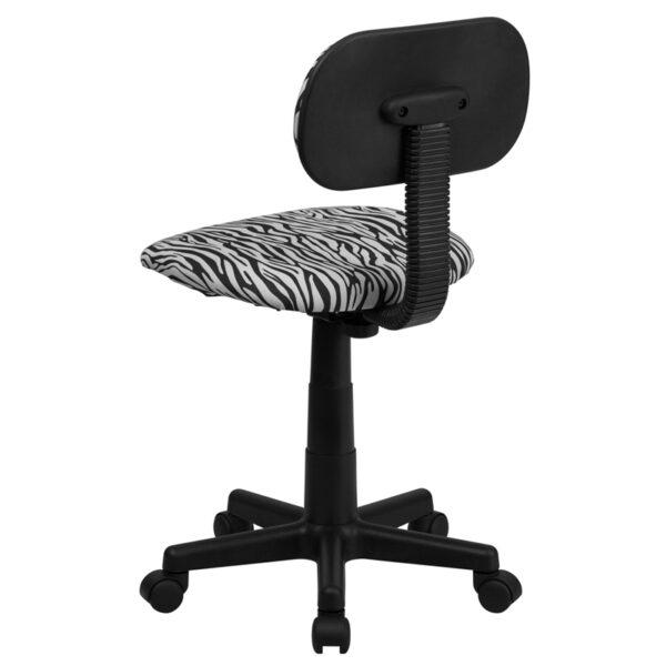 Student Task Chair Black/White Zebra Task Chair
