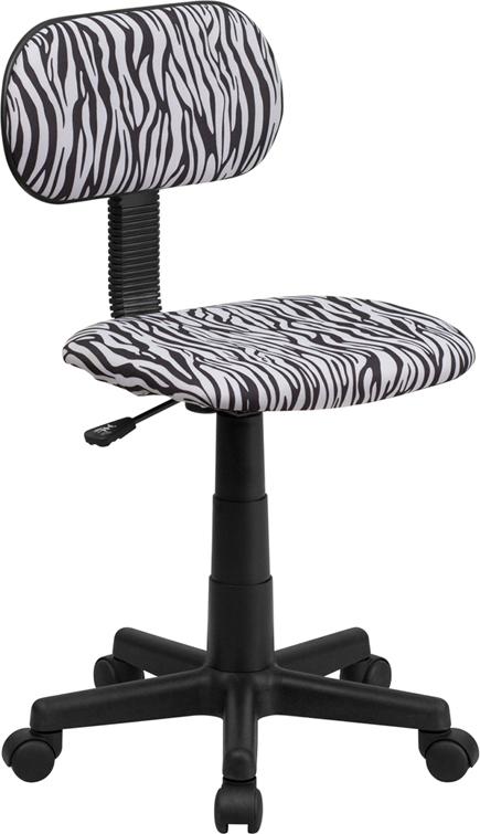 Wholesale Black and White Zebra Print Swivel Task Office Chair