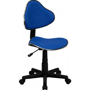 Wholesale Blue Fabric Swivel Ergonomic Task Office Chair