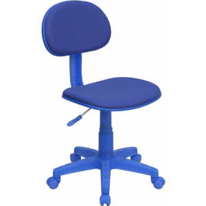 Wholesale Blue Fabric Swivel Task Office Chair